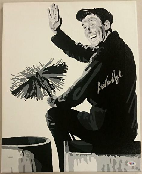 DICK VAN DYKE Signed 16x20 Original Painting Canvas #1 Custom 1/1 PSA/DNA COA