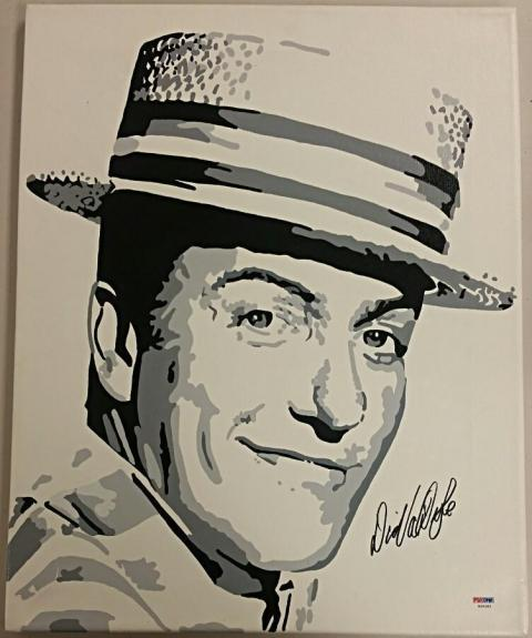 DICK VAN DYKE Signed 16x20 Original Painting Canvas #5 Custom 1/1 PSA/DNA COA