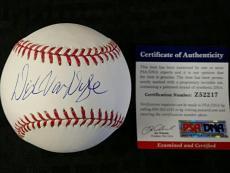 DICK VAN DYKE Signed Baseball Mary Poppins Bert AUTO w/ PSA/DNA COA