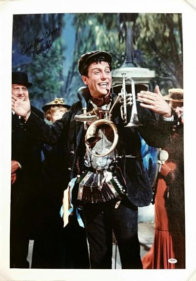 "DICK VAN DYKE Signed ""Chim-Chim-Cheree"" Mary Poppins 20x30 Canvas Photo PSA/DNA"