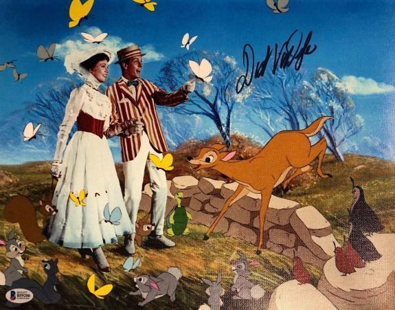 DICK VAN DYKE Signed DISNEYS MARY POPPINS 11X14 CANVAS PHOTO BAS COA AUTO D
