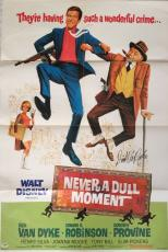 DICK VAN DYKE Signed Disney's Never a Dull Moment Full Size 27x40 Poster PSA COA