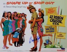 Autographed Tomlinson Photo - Dick Van Dyke Lt Robin Crusoe U S N 11x14 PSA Y10478