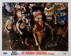 LaDainian Tomlinson Autographed Photograph - Dick Van Dyke Lt Robin Crusoe U S N 11x14 PSA Y10483