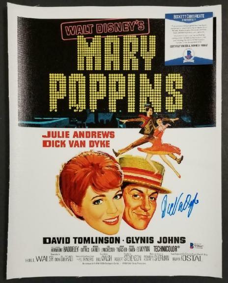 Dick Van Dyke signed Mary Poppins 11x14 Canvas Movie Poster Photo Auto ~ BAS COA