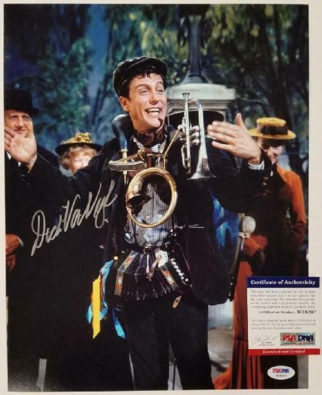 Dick Van Dyke signed Mary Poppins 11x14 Photo #2 Autograph ~ PSA/DNA COA