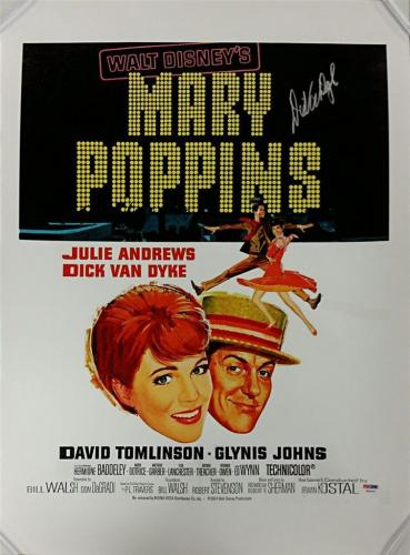 DICK VAN DYKE Signed Mary Poppins 16x20 Canvas Photo #1 BERT Auto~ PSA/DNA COA