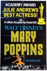 Dick Van Dyke Signed Mary Poppins 27x41 Original Movie Poster PSA Auto Y48756