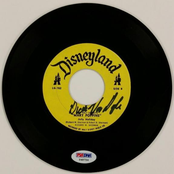 DICK VAN DYKE Signed Mary Poppins LaserDisc 7 inch LP Record Auto PSA/DNA COA
