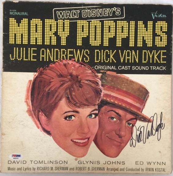 DICK VAN DYKE Signed Mary Poppins Original LP Record Proof PSA/DNA COA Proof