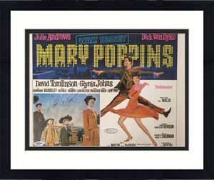 DICK VAN DYKE Signed Original Vintage 1964 MARY POPPINS 11x14 Poster PSA/DNA COA