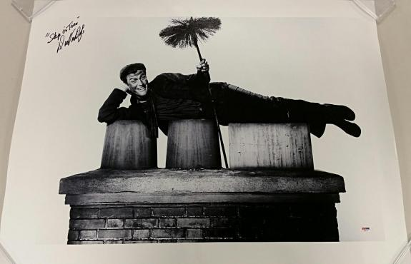 "DICK VAN DYKE Signed ""Step in Time"" Mary Poppins 20x30 Canvas Photo PSA/DNA COA"