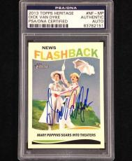 DICK VAN DYKE Signed Topps Heritage MARY POPPINS Card PSA/DNA Auto Autograph
