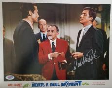 DICK VAN DYKE Signed Walt Disney Never a Dull Moment Lobby Card 1 PSA COA Proof