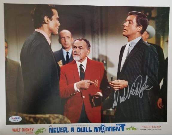 DICK VAN DYKE Signed Walt Disney Never a Dull Moment Lobby Card 1 PSA COA Proof