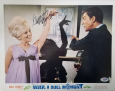 DICK VAN DYKE Signed Walt Disney Never a Dull Moment Lobby Card 13 PSA COA Proof