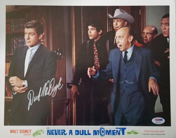 DICK VAN DYKE Signed Walt Disney Never a Dull Moment Lobby Card 14 PSA COA Proof