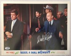 DICK VAN DYKE Signed Walt Disney Never a Dull Moment Lobby Card 16 PSA COA Proof