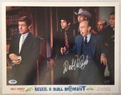 DICK VAN DYKE Signed Walt Disney Never a Dull Moment Lobby Card 16 PSA COA Proof