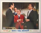DICK VAN DYKE Signed Walt Disney Never a Dull Moment Lobby Card #7 PSA COA Proof