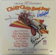 Dick Van Dyke/Richard Sherman Signed Chitty Bang Album w/ Vinyl PSA/DNA #S93049