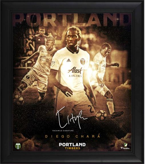 """Diego Chara Portland Timbers Framed 15"""" x 17"""" Stars of the Game Collage - Facsimile Signature"""