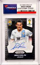 Diego Forlan Team Uruguay World Cup Autographed 2014 Panini World Cup #S-DF Card Pack Pulled