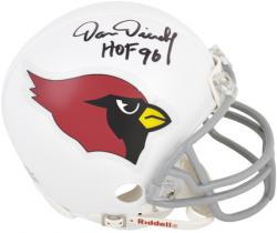 "Dan Dierdorf Arizona Cardinals Autographed Riddell Mini Helmet with ""HOF 96"" Inscription"