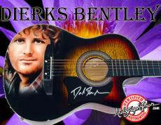 Dierks Bentley Autographed Signed Airbrush  ac/el Guitar PSA/DNA