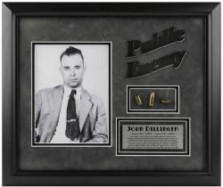 DILLINGER, JOHN FRAMED (PUBLIC ENEMY) PHOTO w/BULLET/PLATE