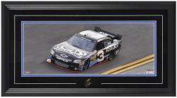Austin Dillon Framed Mini Panoramic with Facsimile Signature - Mounted Memories