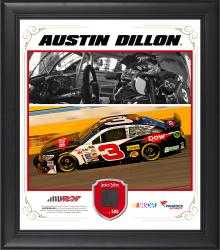 Austin Dillon Framed 15'' x 17'' Composite Collage with Race-Used Tire - Mounted Memories