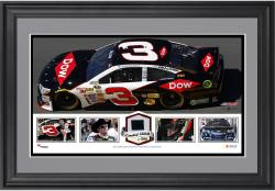 Austin Dillon Framed Panoramic with Race-Used Sheet Metal-Limited Edition of 500 -