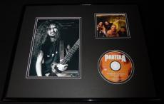 Dimebag Darrell Framed 16x20 Best Of Pantera CD & Photo Display