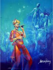 Celine Dion Sitting Original Artwork