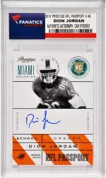 Dion Jordan Miami Dolphins Autographed 2013 Panini Prestige NFL Passport #40 Card