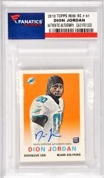 Dion Jordan Miami Dolphins Autographed 2013 Topps Mini Rookie #41 Card