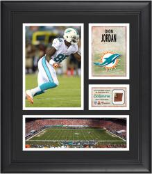 Dion Jordan Miami Dolphins Framed 15'' x 17'' Collage with Game-Used Football - Mounted Memories
