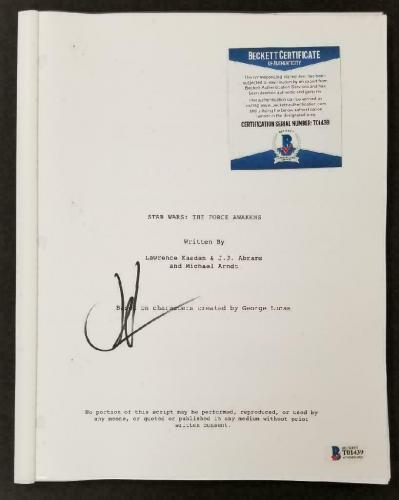 Director JJ Abrams signed Star Wars The Force Awakens full Movie Script (B) BAS