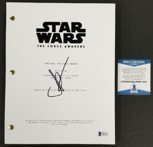Director JJ Abrams signed Star Wars The Force Awakens FULL Movie Script (I) BAS