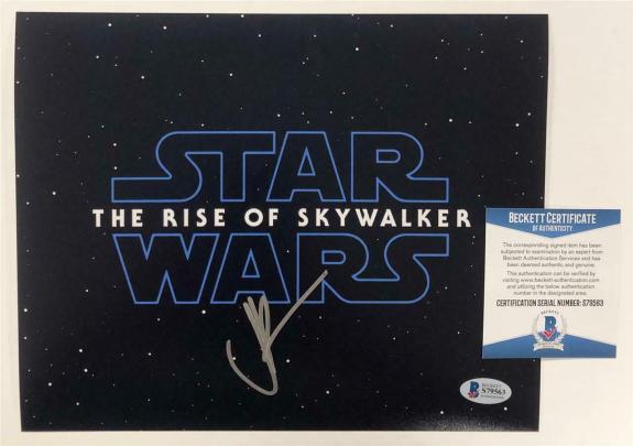 Director JJ Abrams signed Star Wars The Rise of Skywalker 8x10 Photo C ~ BAS COA