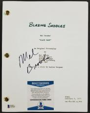 Director MEL BROOKS Signed BLAZING SADDLES Full Movie Script B~ BAS Beckett COA