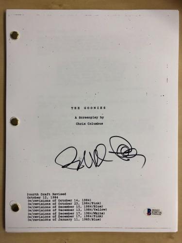 Director RICHARD DONNER Signed THE GOONIES Movie Script BAS Beckett COA AUTO