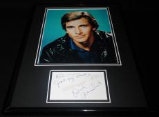 Dirk Benedict Signed Framed 11x14 Note & Photo Display A Team