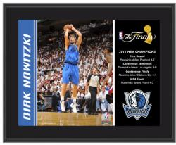 "Dallas Mavericks Dirk Nowitzki 2011 NBA Finals Champions 10.5"" x 13"" Player Plaque - Mounted Memories"