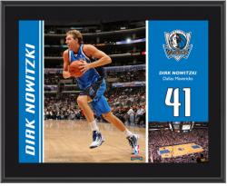 "Dallas Mavericks Dirk Nowitzki 10"" x 13"" Sublimated Plaque - Mounted Memories"