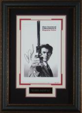 Dirty Harry Clint Eastwood Signed 11x17 Poster Framed