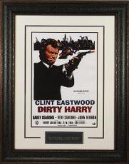 Dirty Harry unsigned 20x28 Masterprint Vintage Poster Leather Framed w/ Clint Eastwood (entertainment/photo)