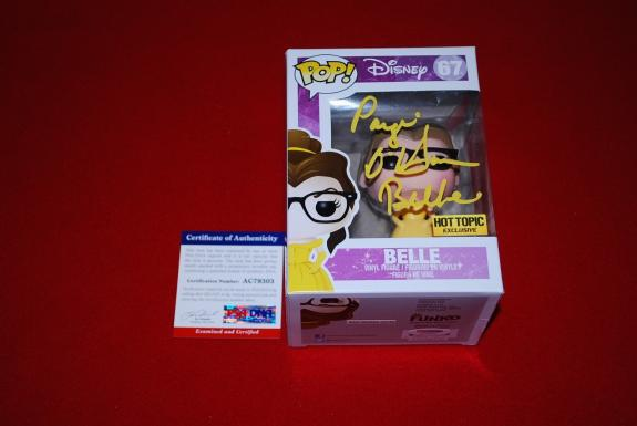 PAIGE O'HARA beauty & the beast signed psa/dna belle pop 67 proof HOT TOPIC