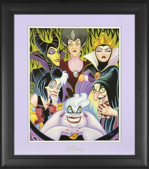 "Disney Villains Framed ""Misleading Ladies"" 11"" x 14"" Matted Photo"